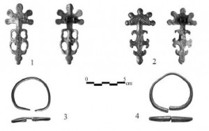 Associated grave goods with the female grave in Enisala (photo by G. Dincu) (Ailincăi et al., 2014)