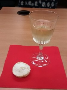 Prosecco and mince pies, how Christmassy! Photo credit: Ethan Greenwood