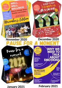 cover pictures of the monthly wellbeing newsletter