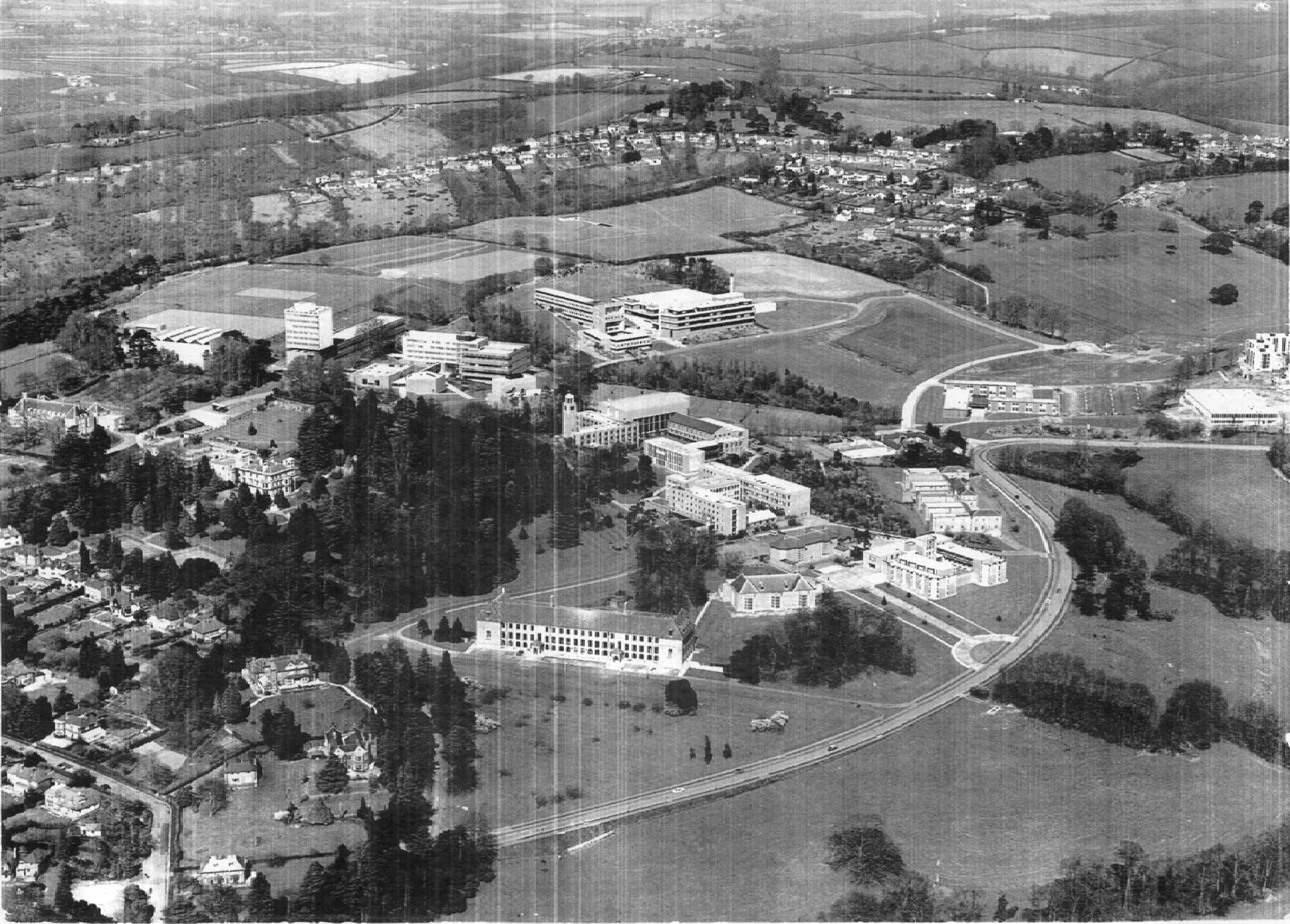 Aerial view 1960s 70s