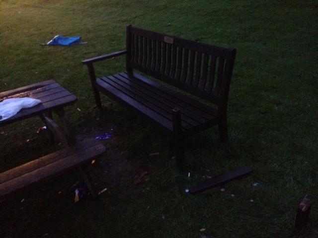 Broken bench DuryardJPG