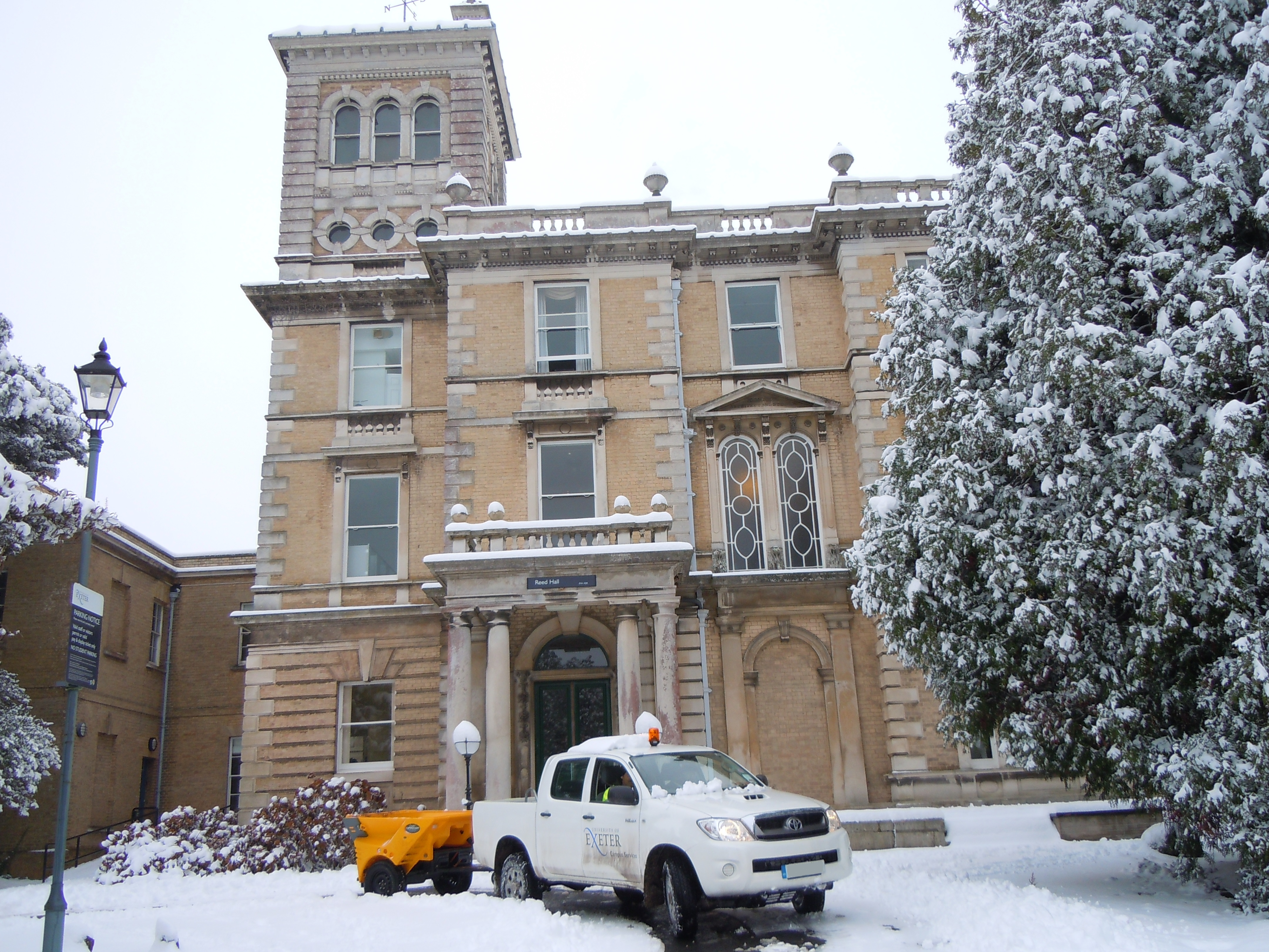 Reed Hall December 10 Gritting