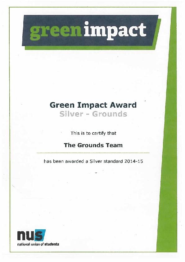 Green Impact award 2015