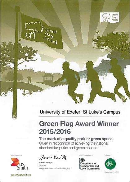 Green Flag Certificate 15 St Lukes