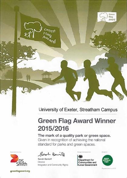 Green Flag Certificate 15 Streatham