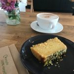 Vegan Lemon & Polenta Cake and a Chai Latte