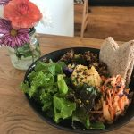 Delicious Organic Salad Bowl with Pittas