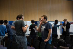 """""""ECRs networking during the poster session at the relaunch event"""""""