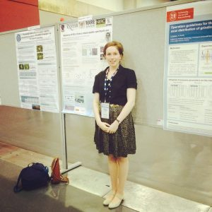 Camilla Owens at IMPC with her poster