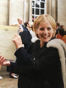 Aimee Middlemiss- on achieving her Undergraduate