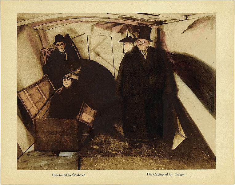 Cabinet of Dr Caligari Lobby Card (1920). Goldwyn Distributing Company. Public Domain via Wikimedia Commons