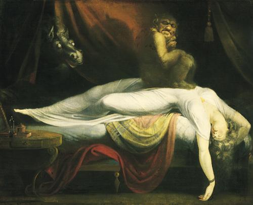 The Nightmare by Henry Fuseli, 1781. Public Domain via Wikiart