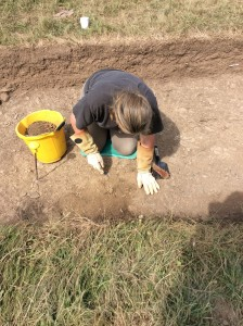 Jan excavating in trench 9