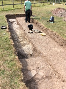 Ditch feature in trench 9