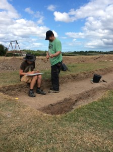 Theo and Neil planning in trench 9