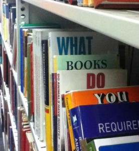 What books do you require?