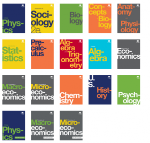 openstax books: book covers
