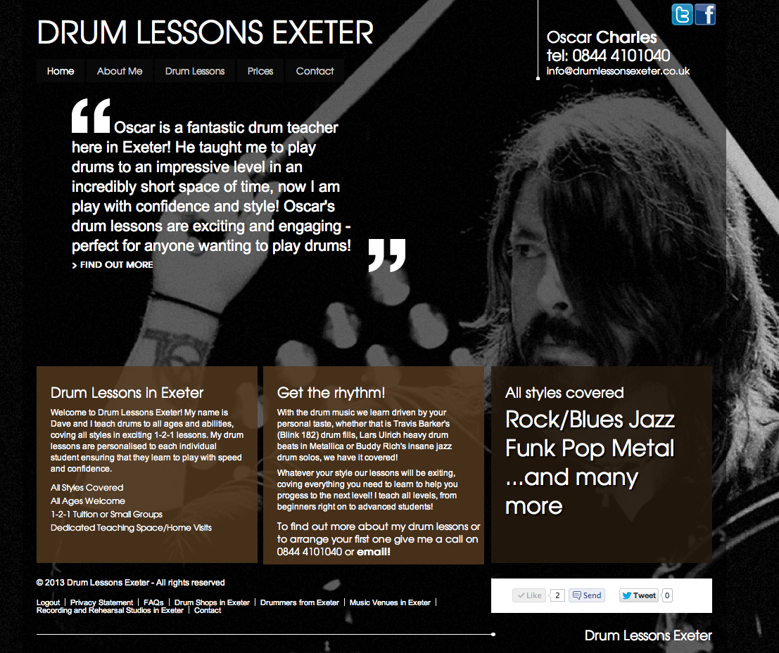 Drum Lessons Exeter