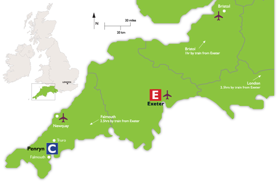 Maps and directions | University of Exeter Map And Directions Uk on