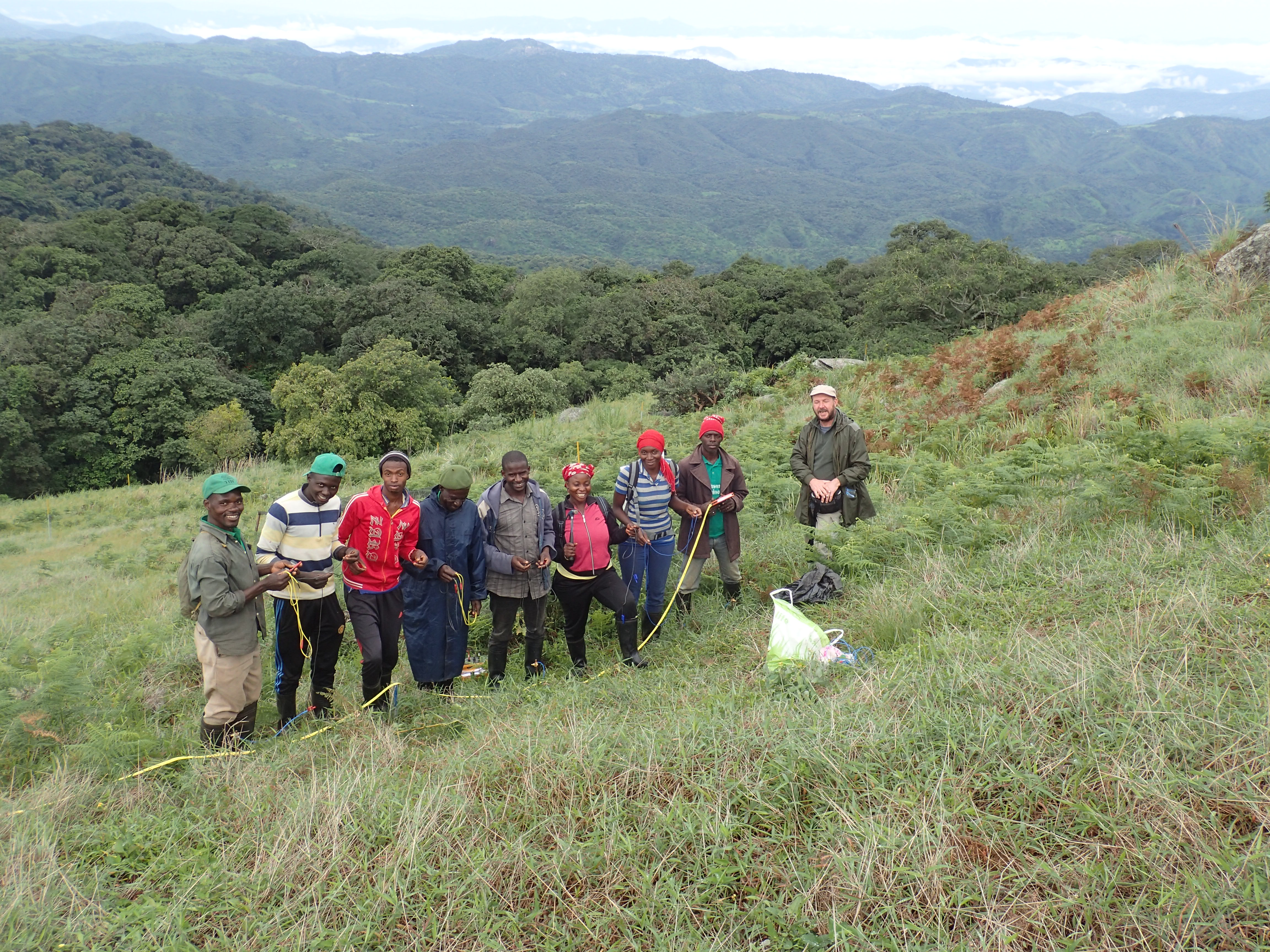 Silvio Stivanello with the Team from Ngel Nyaki, Nigerian Montane Forest